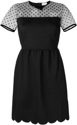 RED Valentino scalloped A-line shor dress