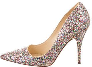 Kate SpadeKate Spade New York Glitter-Embellished Pointed-Toe Pumps