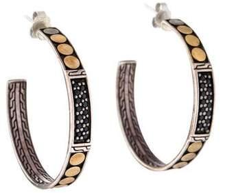 John Hardy Black Sapphire Dot Hoop Earrings