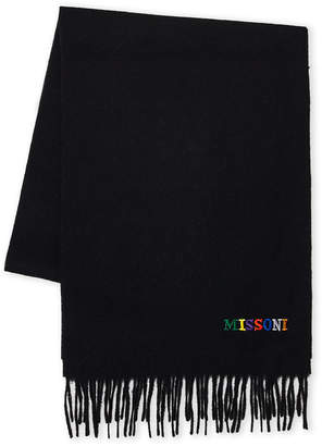 Missoni Embroidered Logo Wool Scarf