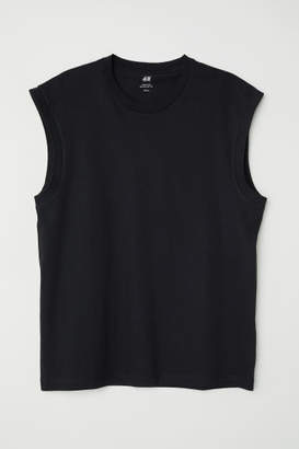 H&M Regular Fit Tank Top - Black