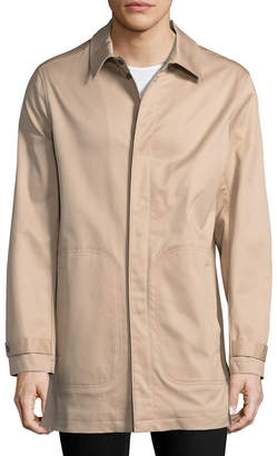 Brooks Brothers Solid Snap Car Coat
