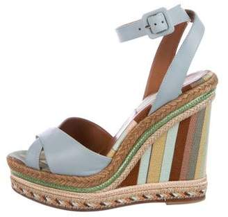 Valentino Leather Espadrille Sandals