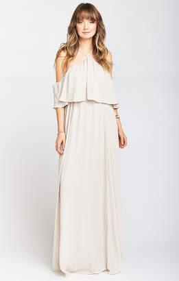 Show Me Your Mumu Rebecca Ruffle Maxi Dress ~ Show Me the Ring Crisp