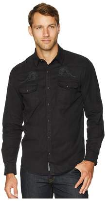 Lucky Brand Long Sleeve Embroidered Western Shirt Men's Clothing