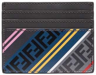 Fendi Multicoloured FF Logo Leather Cardholder