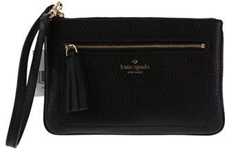 Kate Spade Tinie Chester Street Leather Wristlet Blackt