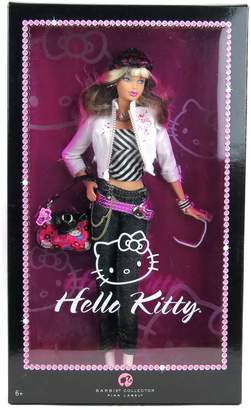 Mattel Year 2007 Barbie Pink Label Collector Series 12 Inch Doll - HELLO KITTY Barbie with Jacket, Hat, Necklace, Purse, Sunglasses, Bracelet and Doll Stand