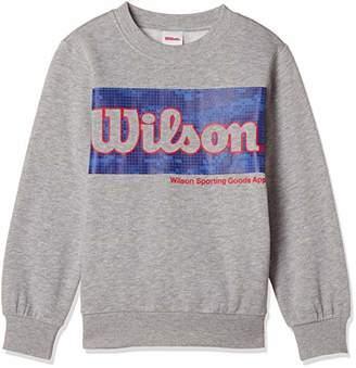 Wilson (ウィルソン) - [ウィルソン] 子供服 裏起毛 防寒 スウェットシャツ WX5838 [ジュニア] ボーイズ 杢グレー 日本 130 (日本サイズ130 相当)