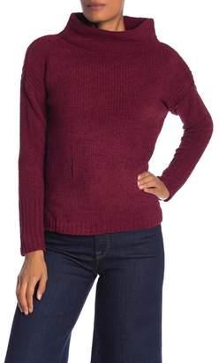 Catherine Malandrino Chenille Turtleneck Knit Sweater