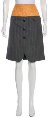 Louis Vuitton Pinstripe Knee-Length Skirt