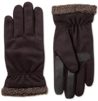 Isotoner Men's Faux-Suede Gloves