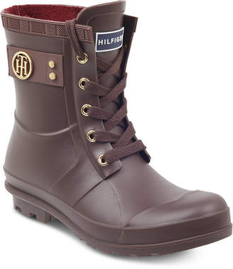 Tommy Hilfiger Trineti Lace-Up Rain Boots Women's Shoes
