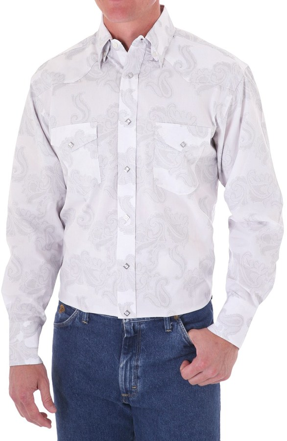 Wrangler George Strait by Jacquard Western Shirt - Snap Front, Long Sleeve (For Men)