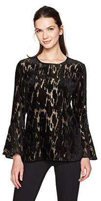 Calvin Klein Women's Flocked Velvet with Gold Underpinning