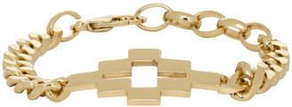 Marcelo Burlon County of Milan Gold Cross Bracelet