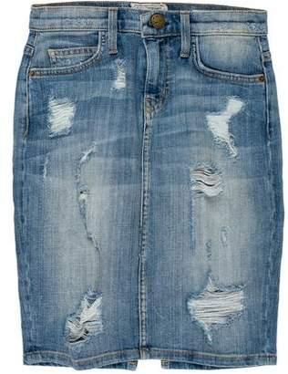 Current/Elliott Denim Stiletto Pencil Skirt