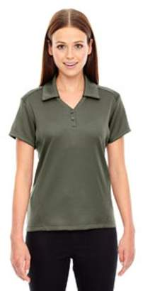 Ash City - North End Sport Red Ladies' Exhilarate Coffee Charcoal Performance Polo with Back Pocket - OAKMOSS 462 - XS 78803