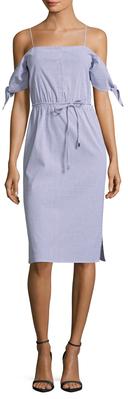 Cotton Striped Shirtdress $158 thestylecure.com