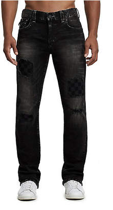 True Religion STRAIGHT FIT CHECKERED PATCH JEAN