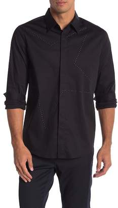 Karl Lagerfeld Star Studded Long Sleeve Modern Fit Shirt