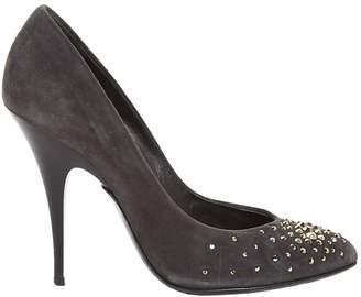 Giuseppe Zanotti Grey Suede Heels
