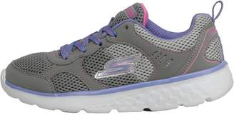 Skechers Junior Girls GOrun 400 K Trainers Grey/Lavender