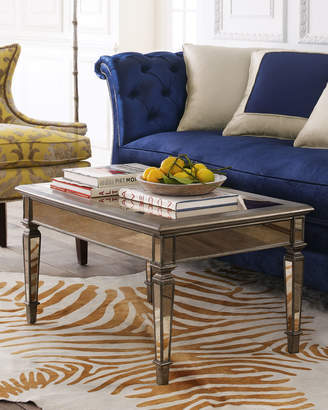 Horchow Hailey Mirrored Coffee Table