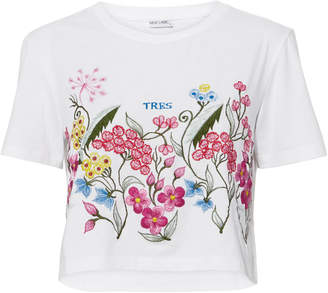 Mlm The Label Tres Floral Embroidery Tee