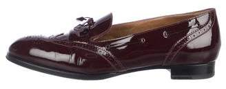 Hermes Patent Brogue Loafers