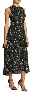 A.L.C. Waylon Tiered Silk Maxi Dress