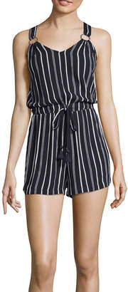 DEREK HEART Derek Heart Sleeveless Romper-Juniors