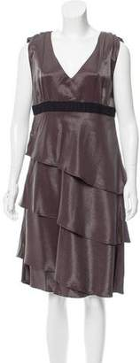 Roberta Furlanetto Wool-Accented Knee-Length Dress w/ Tags