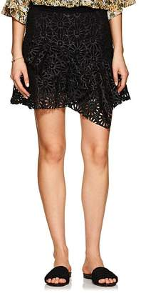 Isabel Marant Women's Daley Eyelet Faux-Leather Miniskirt