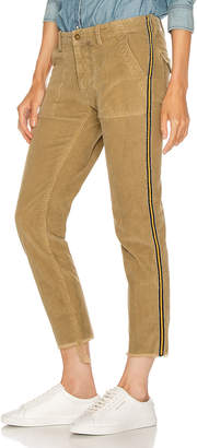 Nili Lotan Jenna Pant with Tape in Mossy Gold, Black & Gold | FWRD