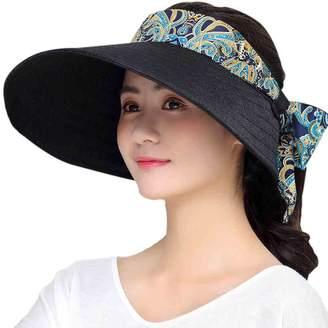 MioCloth Women Big Brim Visor Cap Sun Hat UV Protection SPF53+ for Golf  Beach Outdoor d57e3795d0b6