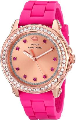 Juicy Couture Women's 1901190 Pedigree -Tone Watch with Silicone Strap