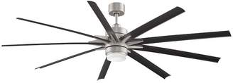 Pottery Barn Odyn Indoor/Outdoor Ceiling Fan, Brushed Nickel with Black Blades