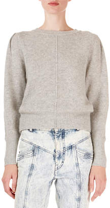 Isabel Marant Cashmere Seamed Crop Sweater