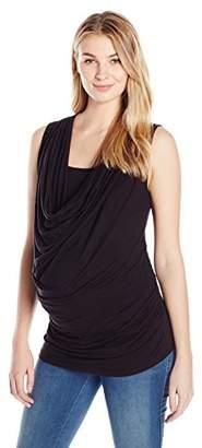 Everly Grey Women's maternity Carla Cowl Neck Sleeveless Maternity and Nursing Top