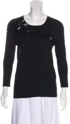 Akris Embellished Long Sleeve Top