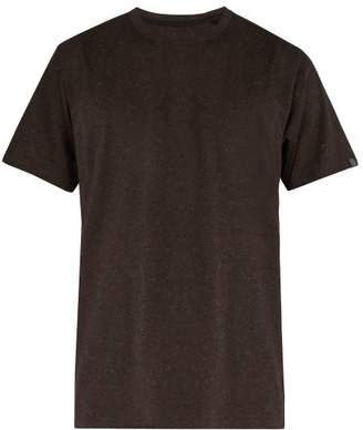 Rag & Bone James Speckled Cotton T Shirt - Mens - Dark Brown