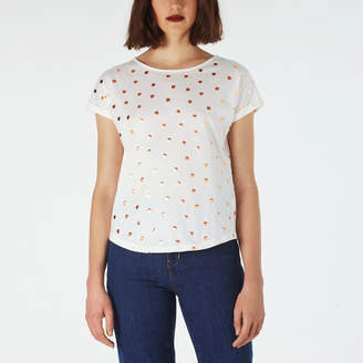 Cath Kidston Scattered Little Spot Foil Print T-Shirt