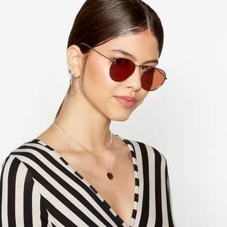 Red Herring Rose Gold Metal Frame Round Sunglasses