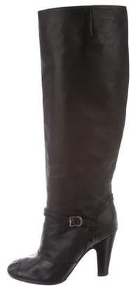 Maison Margiela Round-Toe Leather Boots