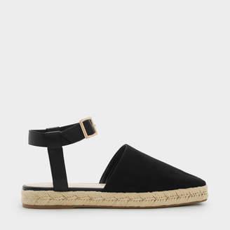 22f5f1ada50c Black Ankle Strap Espadrilles - ShopStyle UK