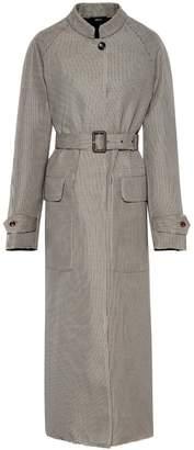Joseph Belted houndstooth coat