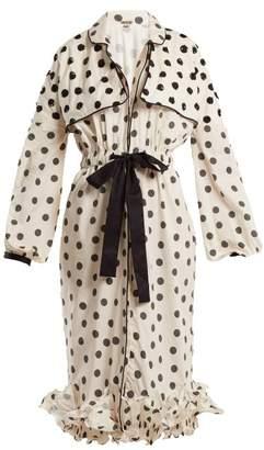 JOHANNA ORTIZ Sequin-embellished polka-dot dress