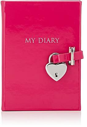 Barneys New York Leather Diary - Pink