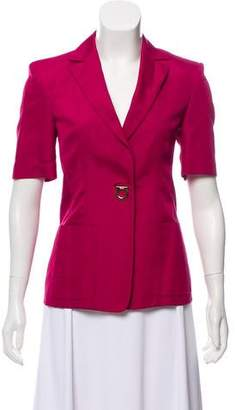 Salvatore Ferragamo Structured Short Sleeve Blazer